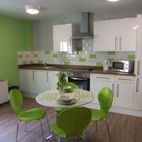 Kingfisher Court Student Apartment Kitchen